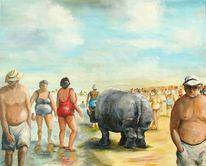 Übergewicht, Persiflage, Strand, Wohlstand