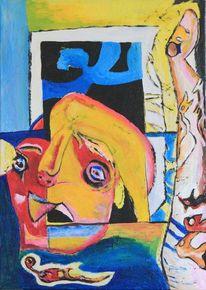 Malerei, Surreal, Kreuzigung