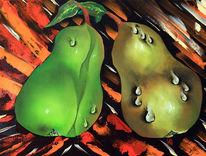 Früchte, Birne, Obst, Malerei
