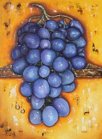 Wein, Weintrauben, Malerei, Stillleben