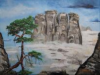Sächsische schweiz, Bastei, Malerei