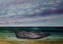 Seelandschaft, Fischerboot, See, Meer