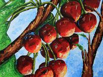 Kirsche, Früchte, Kirschbaum, Malerei