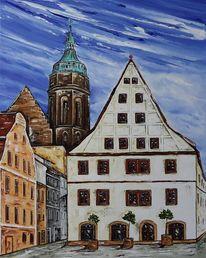 Pirna, Canalettohaus, Marienkirche, Malerei