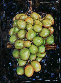 Weintrauben, Malerei, Stillleben