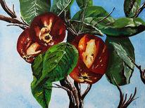Apfel, Malerei, Stillleben