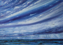 Seelandschaft, Meer, See, Malerei