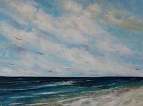 Seelandschaft, See, Meer, Malerei
