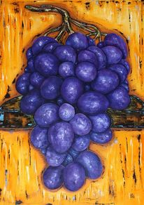 Weintrauben, Wein, Malerei, Stillleben