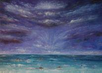 Wolken, See, Meer, Seelandschaft