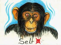 Zeichnungen, Zeichnung, Affe