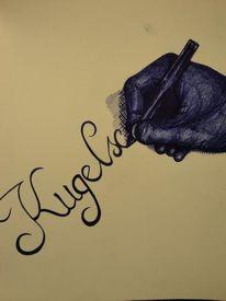 Zeichnung, Kugelschreiber