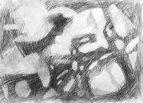 Zeichnung, Zeichnen, Licht, Dynamik