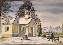 Kapelle, Maria rast, Wetterstein, Winter