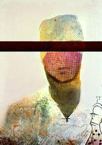 Digitale kunst, Antwort, Sucht, Blond