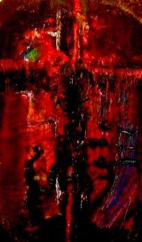 Kreuz, Kreuzigung, Malerei, Abstrakt