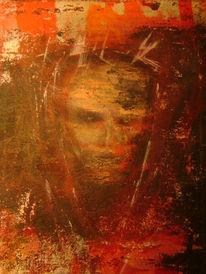 Erscheinung, Geistwesen, Acrylmalerei, Malerei