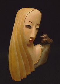 Büste, Skulptur, Keramikkunst, Weisse frau