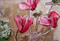 Blumen, Winter, Rot, Zeichnungen
