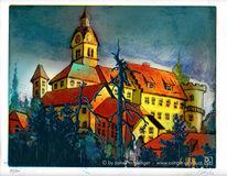 Architektur, Bauwerk, Kirchturm, Burg