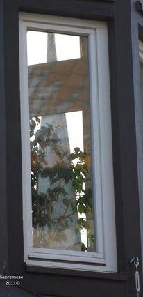 Reflexion, Fenster, Durchblick, Fotografie