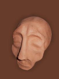 Kopf, Plastilin, Plastik, Figural