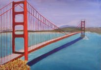 Meer, Brücke, San francisco, Golden gate