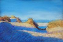 Wasser, Meer, Pastellmalerei, Strand