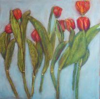 Blumen, Tulpen, Stillleben, Malerei