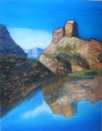 Berge, Blau, See, Spiegelung