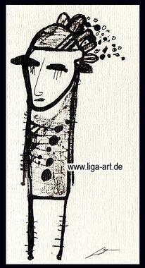 Tusche, Grafik, Zeichnung, Schwarz
