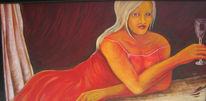 Nacht, Figur, Acrylmalerei, Menschen