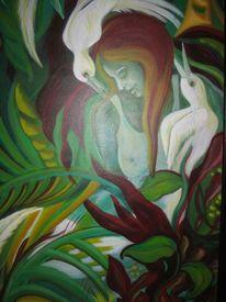 Stille, Pflanzen, Grün, Vögel