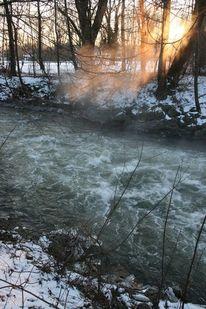 Winter, Strömung, Amper, Schnee