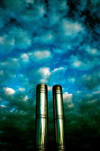 Himmel, Glanz, Wolken, Schornstein