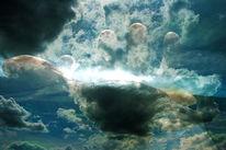 Knochen, Blut, Licht, Wolken