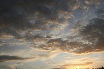 Sonnenuntergang, Straßenlaterne, Baum, Wolken