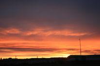 Himmel, Haus, Sendemast, Sonnenaufgang