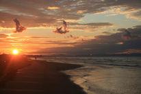 Sand, Welle, Sonnenaufgang, Wolken