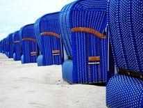 Strandkorb, Blau, Strand, Meer