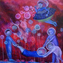 Entführung, Alien, Ufo, Malerei
