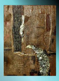 Abstrakt, Blattmetall, Dekoration, Malerei