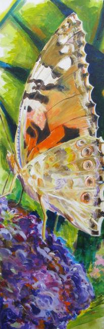 Acrylmalerei, Schmetterling, Malerei, Figural