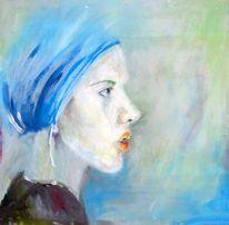 Portrait, Frau profil, Gesicht, Magd