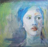 Tuch, Portrait, Gesicht, Magd