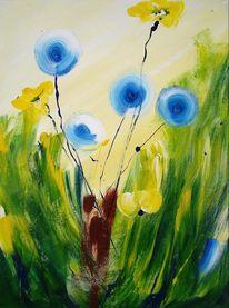 Blumen, Abstrakt, Korn, Acrylmalerei