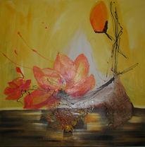 Lotosblüte, Blumen, Braun, Gelb