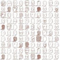 Kopf, Figur, Digital, Abstrakt