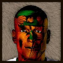 Gesicht, Farben, Portrait, Gespräch