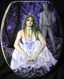 Fantasie, Gothic, Brautkleid, Airbrush
